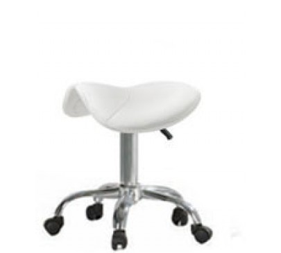 Hydraulic Saddle Stool No/Back (Black or White)